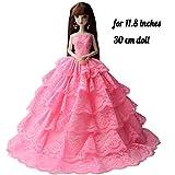 Haner Doll Collection Robe de mariée de soirée Robe Belle Robe de soirée vêtements de poupée pour poupées de 12 Pouces...