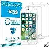 WZS Protector de Pantalla iPhone 8/ 7 / 6s / 6, Cristal Vidrio Templado Premium, 9H Dureza, Alta Definicion 0.33mm, 3D Touch Compatibles, 3 Unidades
