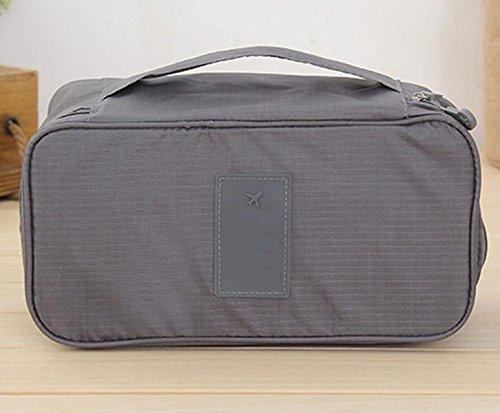 Sac De Voyage Multifonction Sac De Stockage De Sac De Stockage De Sous-vêtements De Soutien-gorge Sac Cosmétique,Grey