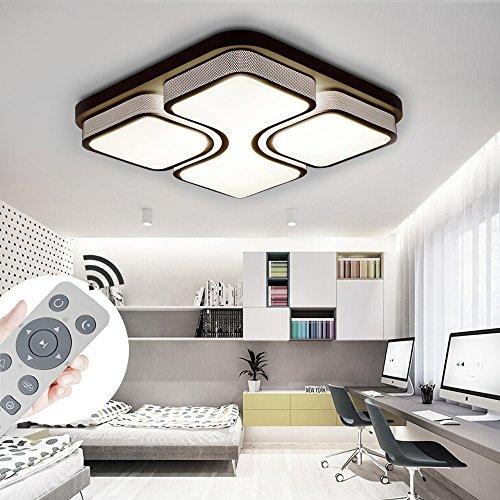 MYHOO 48W LED Deckenleuchte Dimmbar Deckenlampe Modern Wohnzimmer Lampe Schlafzimmer Küche Panel Leuchte mit Fernbedienung [Energieklasse A++]