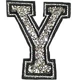 Bügel Iron on Buchstaben Aufnäher Patches für Jacken Cap Hosen Jeans Kleidung Stoff Kleider Bügelbilder Sticker Applikation Aufbügler zum aufbügeln Y CA 8-10 cm