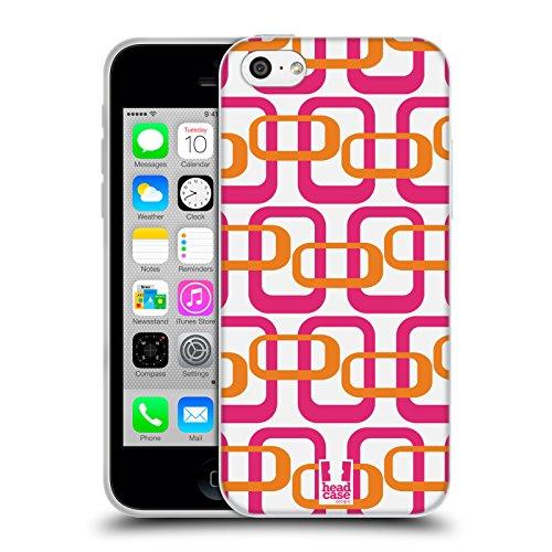 Head Case Designs Orange Rose Mod - Motifs Étui Coque en Gel molle pour Apple iPhone 7 Plus / 8 Plus Orange Rose