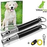 Villkin 2X Hundepfeife +Bonus: Hunde-clicker