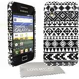 StyleBitz Etui tribal pour Samsung Galaxy Ace et S5830 avec protecteur d'écran et tissu de nettoyage (noir et blanc)