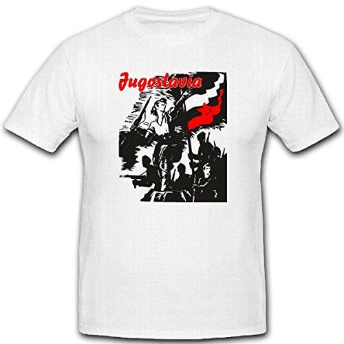jugosl-avia-1945escudo-nadadores-militar-wk-aliado-allierte-rusia-camiseta-3289-wei-xx-large