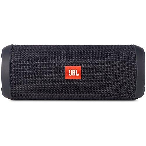 JBL Flip 3 Spritzwasserfester Tragbarer Bluetooth-Lautsprecher mit außerordentlich Kraftvollem Klang im Kompakten Design - Schwarz