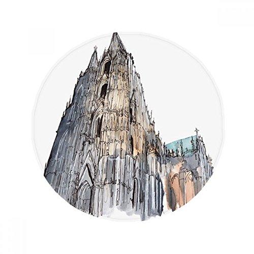 DIYthinker Kölner Dom in Köln Deutschland Anti-Rutsch-Boden Haustier-Matten Runde Badezimmer Wohnzimmer Küche Tür 80 cm Geschenk 80 X 80Cm Mehrfarbig