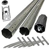 Sol Royal Rohrmotor Zubehör Paket: Montagehilfe für Rolllädenmotoren - Komplettset für Rollläden bis 2 Meter Breite
