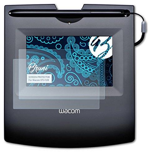 Bruni Wacom STU-520 Folie - 2 x glasklare Displayschutzfolie Schutzfolie für Wacom...