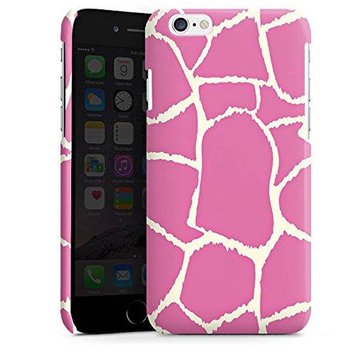 Apple iPhone 5s Housse Étui Protection Coque Girafe Rose vif Imprimé animal Cas Premium brillant