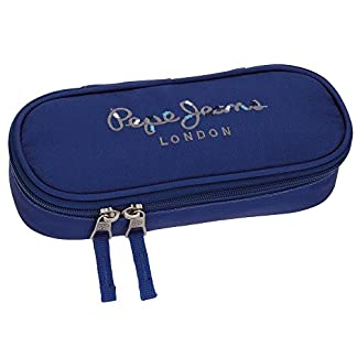 Pepe Jeans Harlow Neceser de viaje, 22 cm, 0.99 litros, Azul