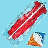 """Hangerworld 152 cm (60"""") Dress/Suit Garment Clothes Cover Bags, Pack of 6"""
