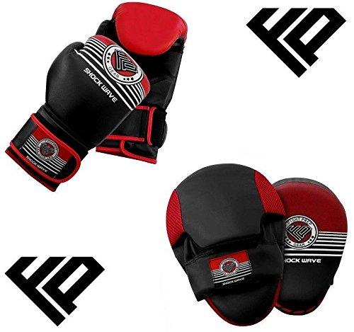 Kampf Prep Boxen Focus Punch Mitts MMA Training Stanz Haken & Jab Strike Pads Ziel mit Tasche Handschuhe (Mitt Mma Boxen Ziel)