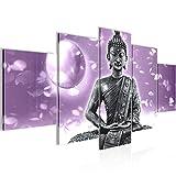 Cuadro Buda Feng Shui Decoración de Pared 100 x 50 cm Forro polar - Lienzo...