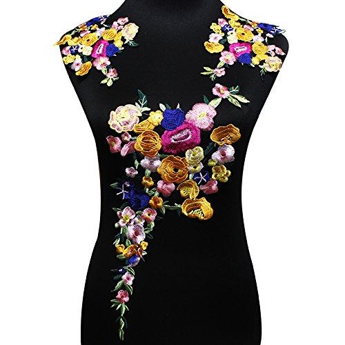 Juego parches florales bordados hacer manualidades