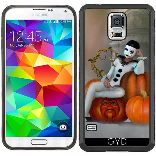 SilikonHülle für Samsung Galaxy S5 (SM-G900) - Pumkin Clown by Illu-Pic.-A.T.Art (Clown Für Samsung Galaxy S5 Fall)