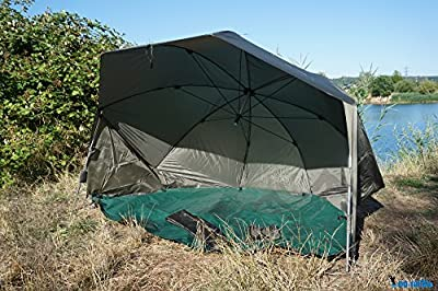DD-Tackle Fishing Tent/Shelter 2 Man XXL 60 Inch Oval Brolly 3m Carp Session Bivvy 5000 mm by DD-Tackle