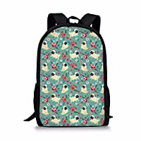 HUGS IDEA Animal Print Fashion Backpack School Bookbag Shoulder Bag for Girl