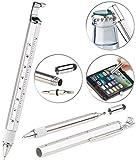 PEARL Kuli: 7in1-Kugelschreiber mit Touchpen, Schraubendreher, Lineal & mehr (Survival Werkzeug)