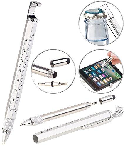PEARL Multitool: 7in1-Kugelschreiber mit Touchpen, Schraubendreher, Lineal & mehr (Multifunktionskugelschreiber)