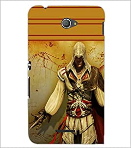 PrintDhaba Warrior D-1891 Back Case Cover for SONY XPERIA E4 (Multi-Coloured)