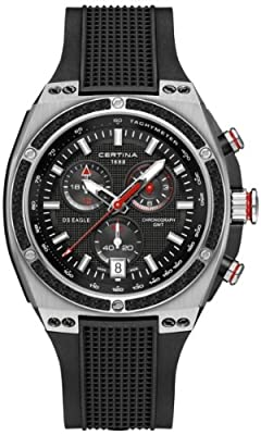 Certina Men's Quartz Watch with Chronograph XL Quartz Rubber c023.739.27.051.00