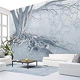 Hwhz Modern Interior Hintergrund Wanddekoration Design 3D Kunst Große Wandbilder Baumwurzel Texturierte Wandbild Tapete Für Wohnzimmer Schlafzimmer-120X100Cm