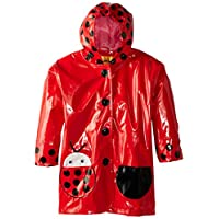 Kidorable Ladybug Size 2T Childrens Kids Girls PVC Raincoat (Red/Black/White)