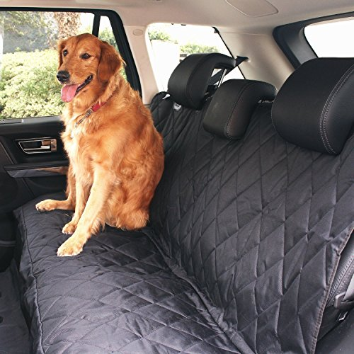 Lemonda 2 in 1 Hundetransportbox Autositzbezug Autoschutzdecke Hängematte Autositz für Haustier Hund Katze Pet Vodersitzbezug (Schwarz1) Auto Sitzbezüge Rückbank