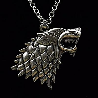 Game of Thrones: Stark Direwolf Silver Necklace
