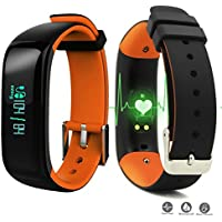 ROGUCI 0.86 Inch OLED Bluetooth Wearable Waterproof IP67 Smart Blood Pressure Heart Rate Monitor Smart Band Wristband Pulse Monitor