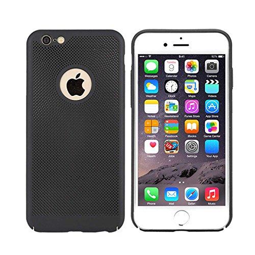 "MOONCASE iPhone 6 Plus/iPhone 6s Plus Hülle, Rugged PC Rüstung Wärmeableitung Handyhülle Ultra Thin Fallschutz Anti-Scratch Schutztasche Case für iPhone 6s Plus 5.5"" Rose Gold Schwarz"