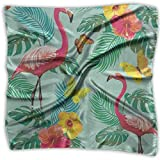 Aeykis Pañuelo cuadrado Flamenco tropical Pájaro Mariposa Palmera Cuello Cabeza Unisex Silenciador Corbata Para Hombres