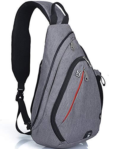 HASAGEI Sport-Rucksack, Schultertasche, für Wandern, Camping, Radfahren, Schule, klein (Grau) -