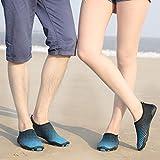 Sixspace Unisex Strandschuhe Aquaschuhe Schwimmschuhe Badeschuhe Wasserschuhe Surfschuhe mit Rutschfeste Sohlen für Damen Herren, Blau 39 EU Test