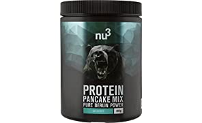 nu3 Protein Pan-Cake Mix | 400 g Unflavoured | Low Carb Pfannkuchen mit 55% Protein | ganze 28 g Eiweiß pro Portion | köstliche Abwechslung zu Protein-Shakes | fluffige Pancakes ohne Konservierungs- und Farbstoffe