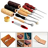 ParaCity Sewing Supplies Accessories Tools, Leather Craft Hand Stitching Sewing Tool (14 Pcs Set)