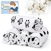 IEOKE Baby Blanket Newborn Wrap 0-6 Months Unisex, 100% Soft Cotton,120cm x 120cm (47 Inch x 47 Inch), Pack of 4
