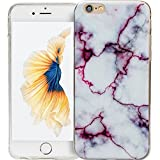 Funda para iPhone 6/6s mármol Marble Lila Hard Case Cover panelize