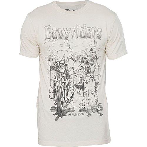 Affliction T-Shirt Easyriders Lightning Strike Beige Beige