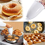 Sunnymi Plastique Distributeur de pâte à beignets machine à Moule DIY Outil de cuisine Pâtisserie Bake Ware (Dia.) X(H) 9X18cm /3.54''X7.09'' blanc