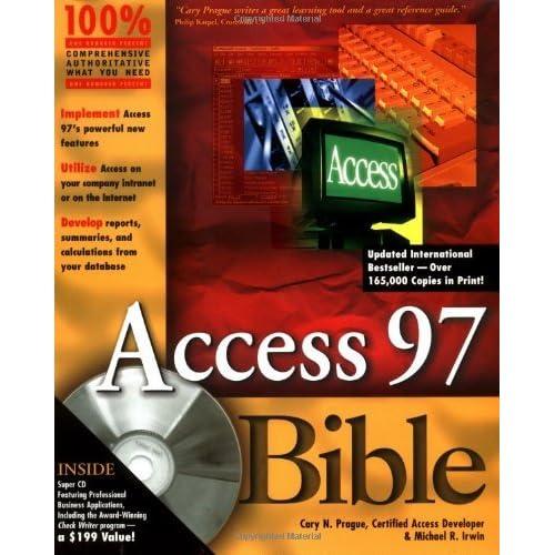 Access 97 Bible by Cary N. Prague (20-Jan-1997) Paperback