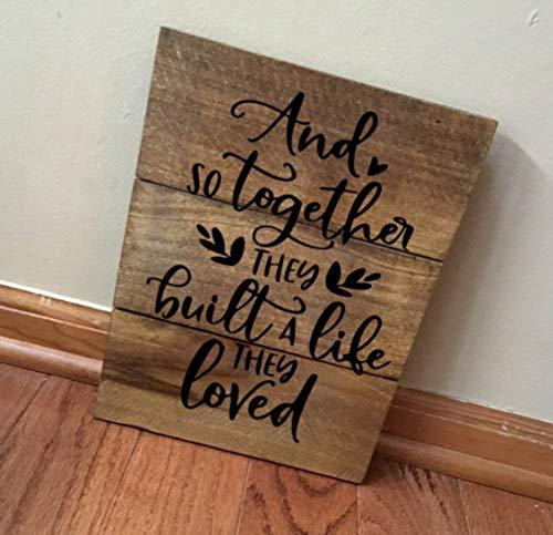 Handgefertigt Gebeizt (CPWood Rustikale handgefertigte Wanddekoration aus recyceltem Echtholz gebeizt und so zusammen Bauen sie EIN Leben sie lieben)