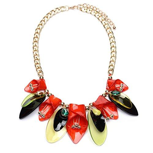LybShp Halskette aus Legierung Moda Blume Femminile Kette Clava A - Clava Band