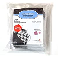 Scrapbook Adhesives BY 3L Permanent Small Pre-Cut 3D Foam Squares (308 Pack), Black preiswert