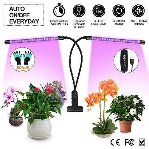LED Lamparas para Plantas de Doble Cabeza