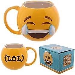 Tazza Mug colazione ceramica EMOTICON EMOJI RISATA LOL