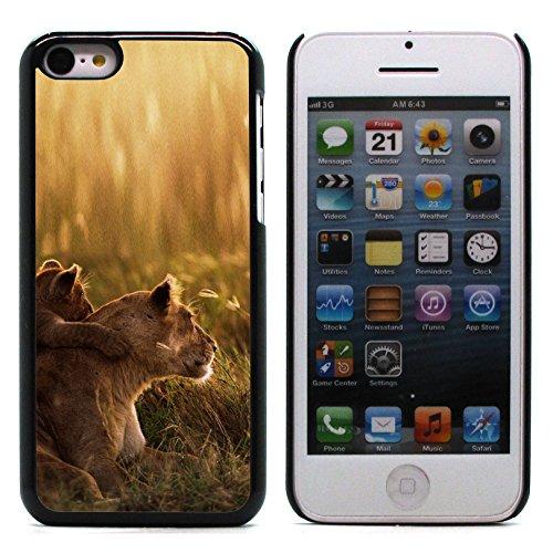 Graphic4You Löwe Tier Design Harte Hülle Case Tasche Schutzhülle für Apple iPhone 5C Design #1