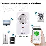 COOSA Presa Intelligente Wi-Fi senza Fili Funziona con Amazon Alexa (Echo e Echo Dot) Controllo Smartphone App per iOS e Android WiFi Smart Socket Timer Presa per Casa e Ufficio Interruttore di Comando a Distanza (Bianco(1Pack))