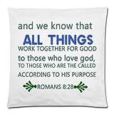 Bgejkos Kissenbezug und wir wissen, DASS Alles GUT FÜR diejenigen, die Gott lieben, GEMEINSAM ARBEITET
